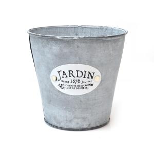 Ghiveci metalic natur JARDIN D16 7055