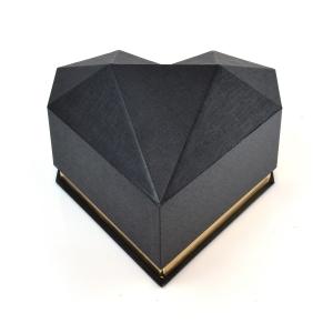 Cutie plastic inima diamant negru