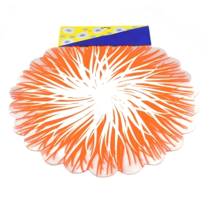 Celofan rotund flacari portocaliu cu alb