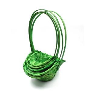 Set 5 cosuri rotunde cu palarie verde
