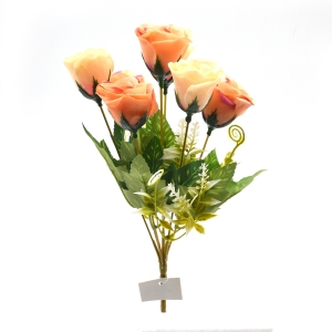 Flori Buchet 7 trandafiri wild frez cu piersica