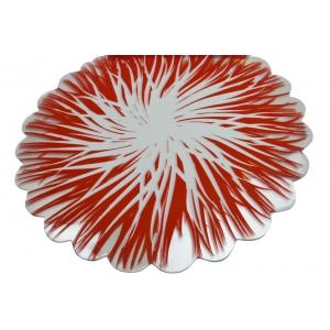 Celofan rotund flacari rosu cu alb