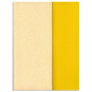 Hartie creponata Gloria Doublette alb galben-galben, cod 3304