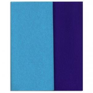 Hartie creponata Gloria Doublette bleo-albastru, cod 3320